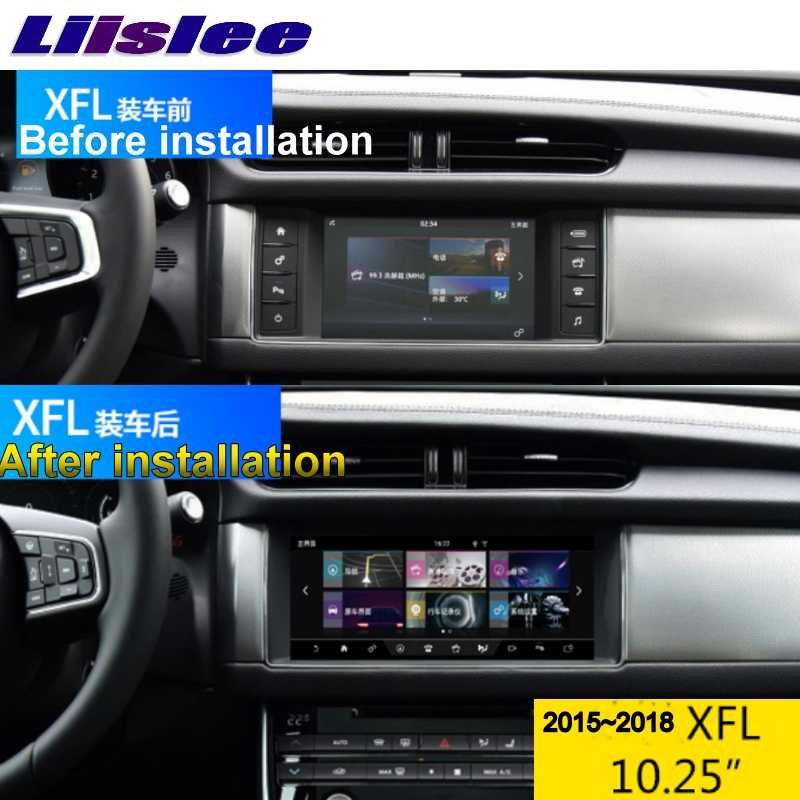 ل جاكوار XE XF XFL X260 R-Sport 2015-2018 نافي LiisLee سيارة الوسائط المتعددة 10.25 'غس واي فاي الصوت كاربلاي محول جهاز التتبع بالراديو