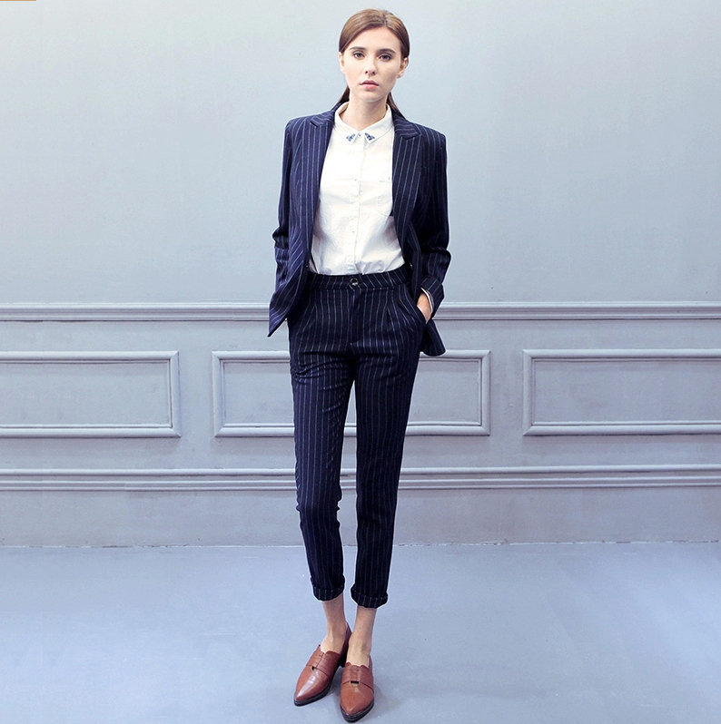 suit sleeve Picture - More Detailed Picture about Women Blue and ...