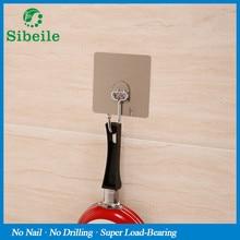 SBLE 3 pieces Stainless Steel Vacuum Suction Organizer Hook Bathroom Holder Hanger Rustproof Kitchen Utensil Utility Hanger