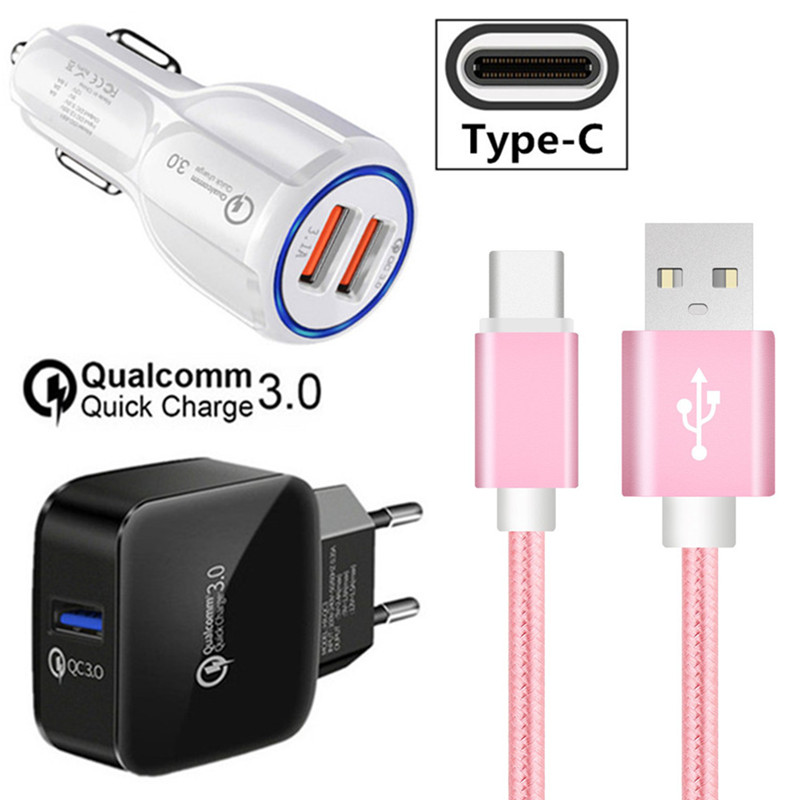 Short Type C Usb Wire For Google Pixel 2 Leagoo S9 S8 Pro Honor 9 10 Zenfone 5 Ze620kl Zs620kl Qc 3.0 Fast Car Charger Adapter