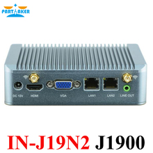 Barebone PC J1900 Mini PC 2 * RJ45 Ethernet USB3.0 Поддержка Wi-Fi 3 г Мини Quad Core Nano компьютер