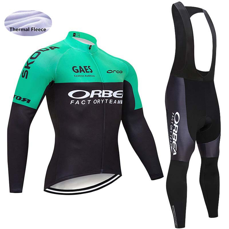 Nueva camiseta de ciclismo para hombre 2018 pro equipo de bicicleta de Invierno Polar de manga larga conjunto ropa ciclismo bicicleta triatlón ropa de ciclismo