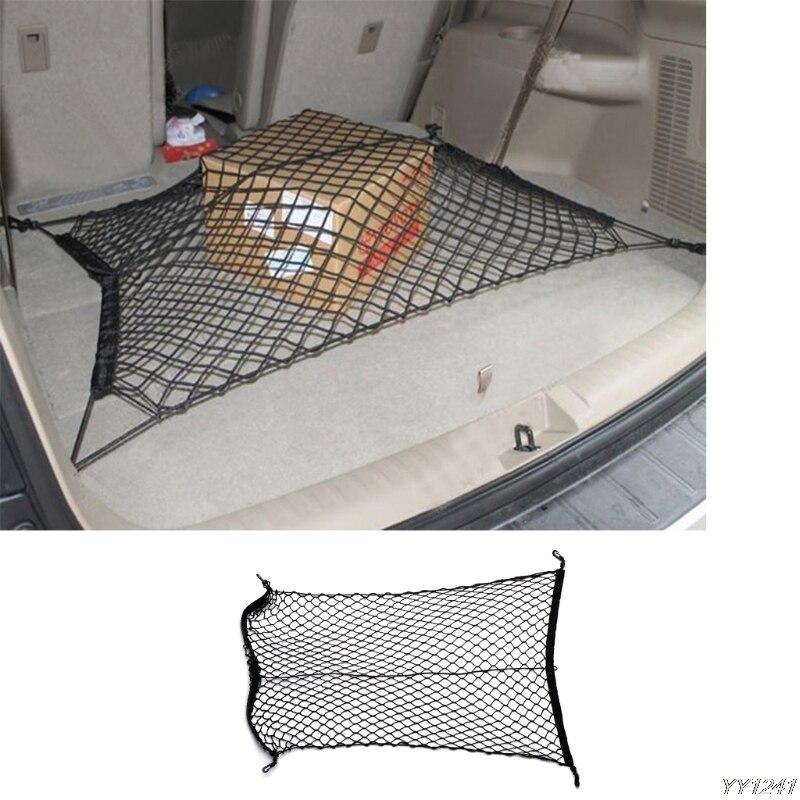 Nylon Universal Car Trunk Luggage Storage Cargo Organizer Elastic Mesh Net w/4 Hooks 100x70cm Car Styling Stowing Tidying