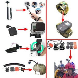 Image 4 - 50 in 1 Gopro Accessories Chest Ram Mount Kit For Gopro Hero 8 7 Black 5 xiaomi yi 4K Go Pro sony x3000 Action Camera Accessorie