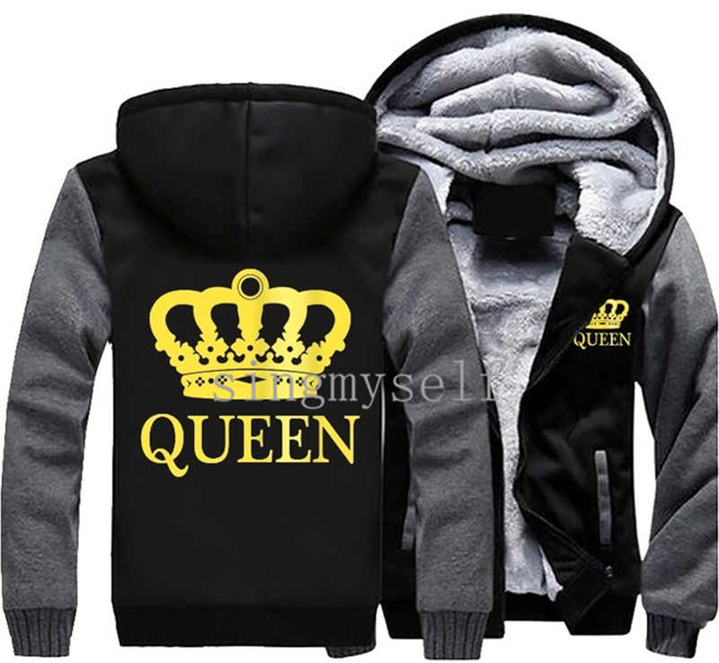 Dropshiping Winter Crown Jacket Baseball Costumes Anime drake black Unisex Wool Casual Hoodie Thick zipper Sweatshirt Tops