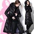 Más el tamaño 3xl 2016 mujeres chaqueta de invierno chaquetas de down escudo pato abajo largo espesar abajo abrigos parka de las mujeres clothing prendas de vestir exteriores