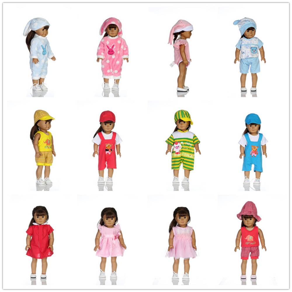 14color Sports Suit Doll Clothes Wear fit 18 inch American Girl,Our generation Doll Clothes,Children best Birthday Gift 18 inch american girl doll our generation doll birthday gift christmas gift for girls with clothes free shpping adg14