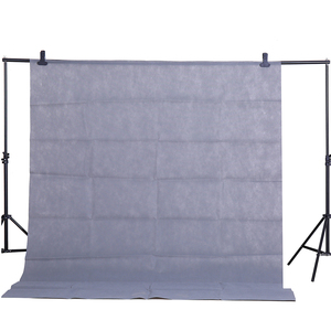 Image 2 - CY Hot sale Photo gray background cloth 1.6*3M/5*10FT Photography Studio Non woven Backdrop Background Screen shooting portraits