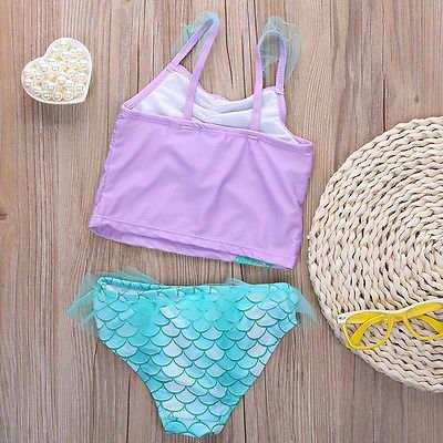 5526c7dc4ad5c Online Shop Mermaid Swimwear Kids Swimming Bikinis Set Two Pieces Baby  Girls Bathing Suit Children Purpel Sequined Swimsuit | Aliexpress Mobile