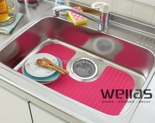 Germany Brand U Shaped Silicone Sink Mat Pot Protect Stainless Steel Surface Prevent