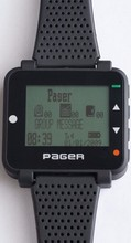 poscag paging system alpha watch pager text message wrist pager, portable pager ,offer free software