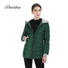 New Warm Winter Jacket Women Hooded Cotton-Padded Parka Cotton Coat Plus Size Wadded Down Jacket Basic Coat Casacos Feminino