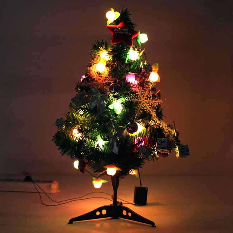 Christmas Decorations 60 cm Luminous Desktop Mini Christmas tree Christmas Decoration Supplies Christmas Tree A Small Pine Tree