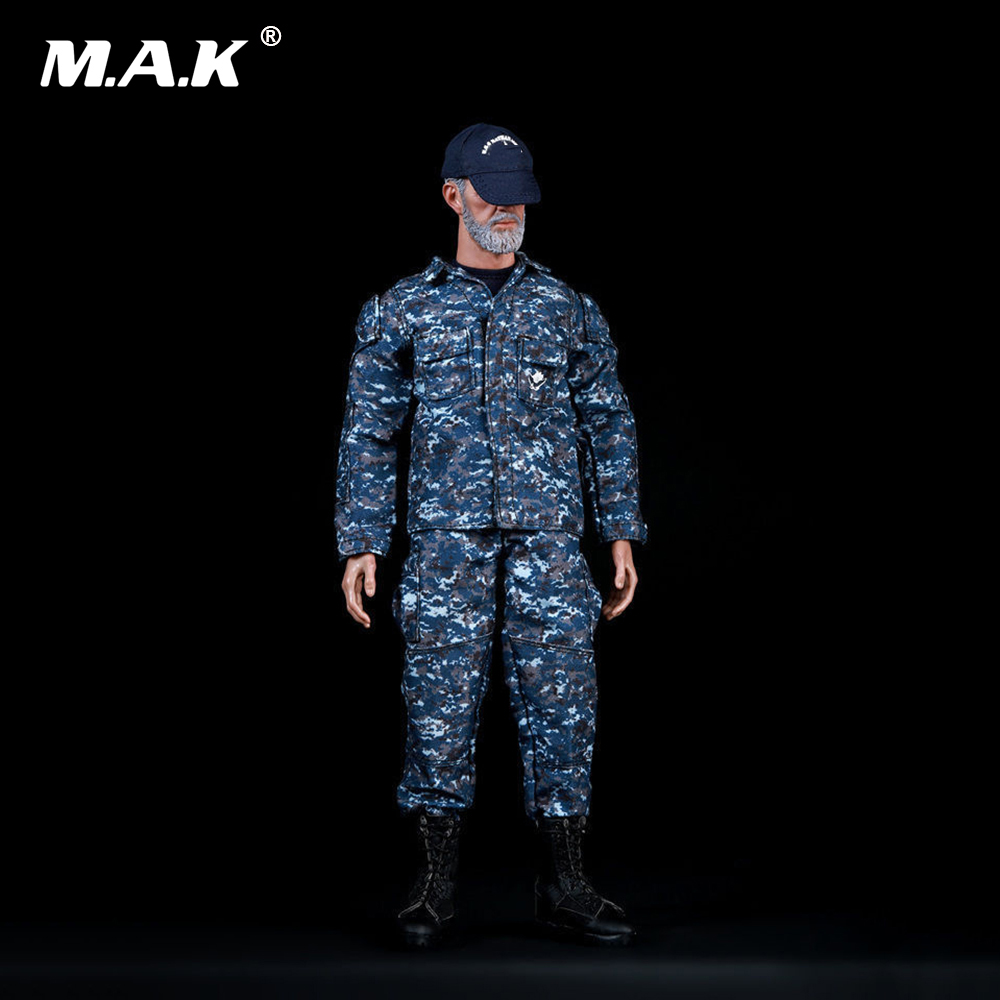 1/6th U.S. NAVY Marine Training Uniform Camouflage Suit Clothes with Baseball Cap Accessory Set for 12 inches Action Figure
