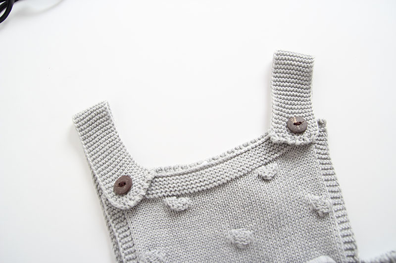 INS Summer Knitted Rompers Newborn In Baby Girls\' Rompers&Jumpsuit Vest Top Tee Kids Boys Gray Rompers 0-3 Years Girl Clothing (5)