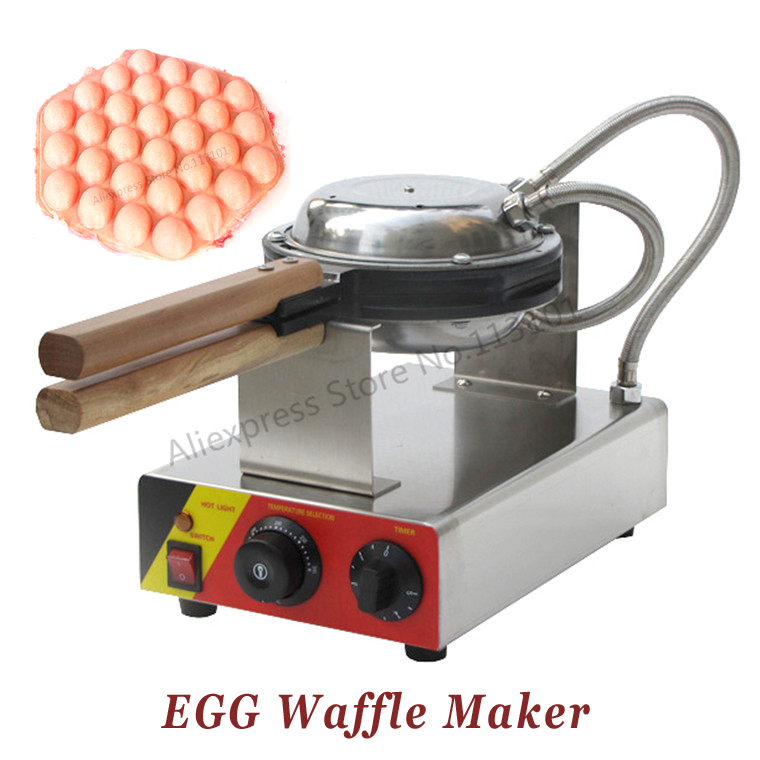 Free Shipping 220V 110V Stainless Steel Electric Eggette Waffle Machine Egg Waffle Maker With Thermostat And