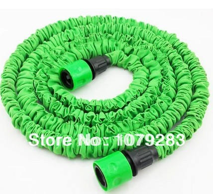 25 FT Expandable hose with nozzle set free shipping watering kits 50FT flexible hose expandable hose(1 Pcs spray gun is free)