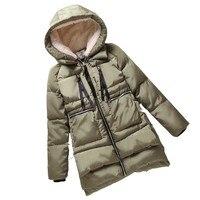 Winter Jacket Women New 2016 Europe Style Fashion Loose Coat female Medium Long Plus Size Park Jackets For Women Hot F828