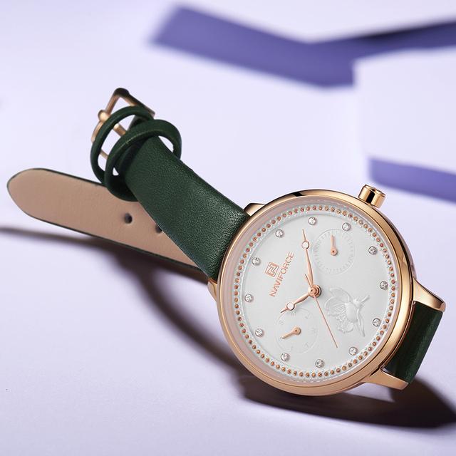 NAVIFORCE Quartz Ladies Watch Brand Luxury Women Watches Rose Fashion Elegant Wrist Watch Waterproof Clock Gift Relogio Feminino