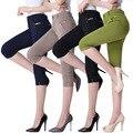 Женские Брюки 2016 Лето Повседневный Отличное Качество Элегантной Моды Высокой Талией Дамы Рабочие Брюки Женщины Брюки Pantalon Femme