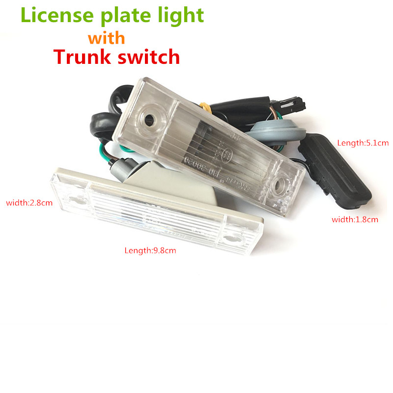 Lowest Price Car Auto Rear Trunk Assembly License Plate font b Lamp b font Light Switch