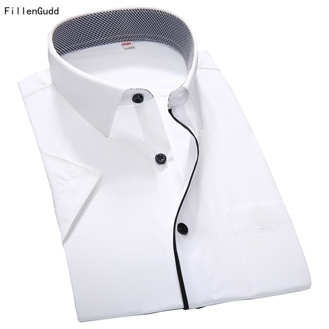 97efd7beae1 FillenGudd 2018 Summer Style Plus size New Mens Long Sleeve Slim fit Business  Shirts social Men