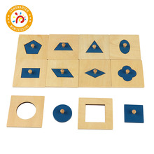 Montessori Material Learning Shape Early Education Basic Shapes Puzzle Children Toy
