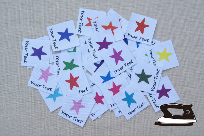̀ •́ 84 Personalized Clothing Labels with Colorful Stars 68d9bc6bdf9a