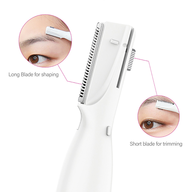 Pritech Mini Portable Electric Eyebrow Trimmer  Hair Removal  Women Body Hair Shaver Remover Blade Razor Epilator Makeup Sets 2