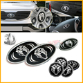 7pcs 3D K5 Tigris Emblem Badge Set (Grille Trunk Steering Wheel 4 Rims) For 2011 2012 2013 Kia Optima K5