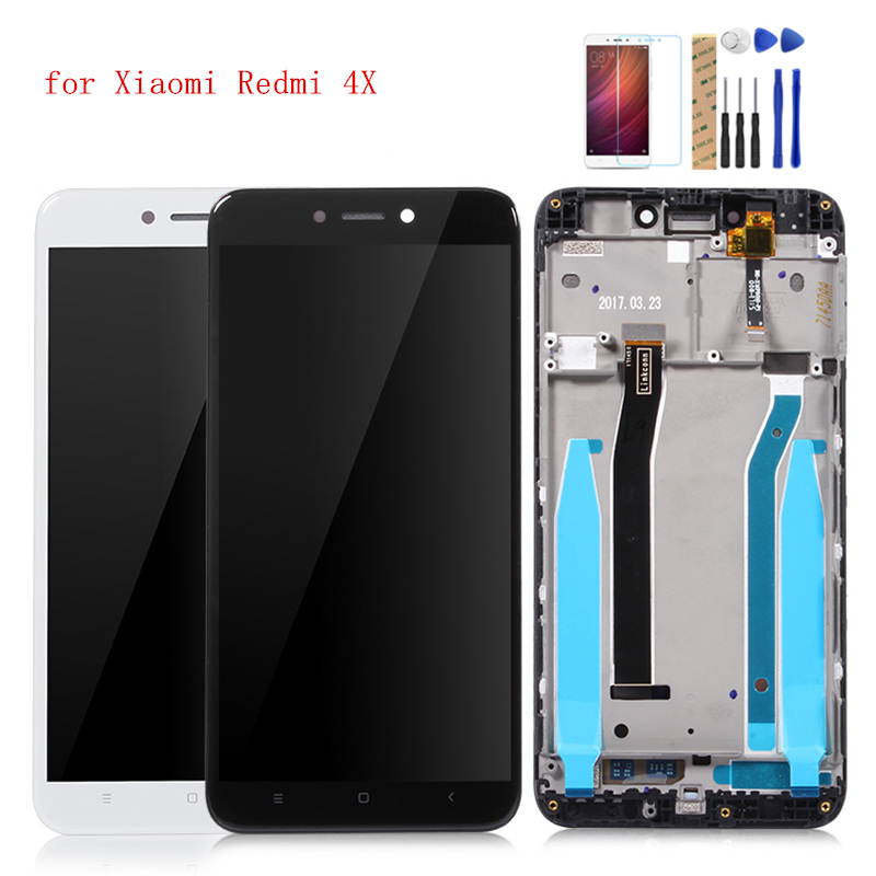Grade AAA For Xiaomi Redmi 4X Global LCD Digitizer Display Assembly Complete Touch Full Screen TouchScreen Replacement Parts