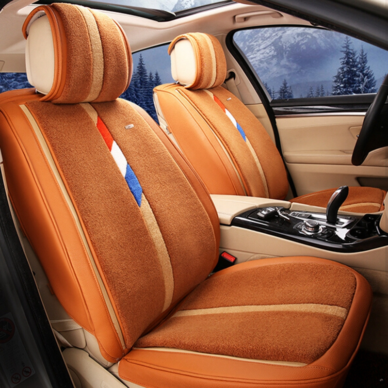 Luxury Car Winter Cushion seat covers Front & Rear Complete Set case Universal for Cruze Lavida Focus BMW ETC Fully Enveloped