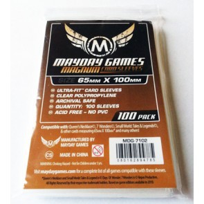 5 Packs/lot Mayday Games for 65*100mm Card Protector Seven Wonders Board Game Card Game Sleeve 7102