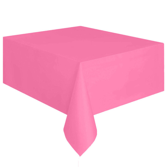 1 Pc Large Plastic Table Cover Rectangle Cloth Wipe Clean Party