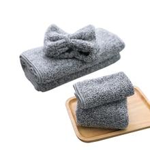 Банное полотенце из бамбукового волокна, набор, Подушечка для очистки, быстрый сушильный душ, шапка для женщин, повязка на голову для ванной, Кухонное чистящее полотенце s