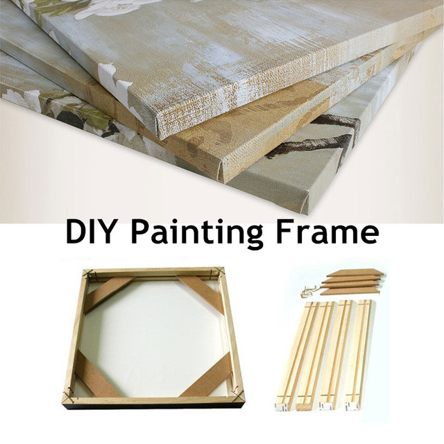 DIY Frameless Painting Frame Hand Made Wall Art Painting Wooden ...