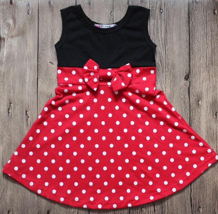 2018 Hallowee Girls Princess Dress Birthday Mickey Party Red Dot Dress Elsa Aurora Girls Dress Kid Mermaid Minnie Cosply Dress