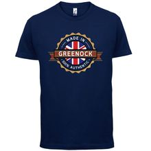 Made In GREENOCK Mens T-Shirt - Town / City 13 ColoursPrint T Shirt Short Sleeve Hot Fashion Classic