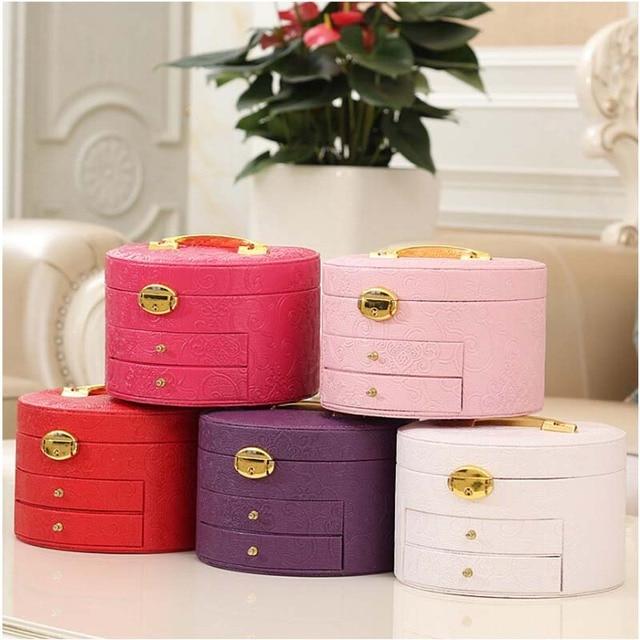 jewelry organizer box Portable caskets jewelry displays for