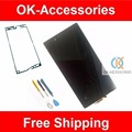 Negro para sony xperia z ultra xl39h xl39 c6802 c6806 c6843 lcd display + touch screen + cinta adhesiva + herramientas 1 pc/lot
