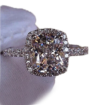 ZN Fashion 2019 Rings Temperament Jewelry Womens Girls White Silver Filled Wedding Ring Dropshopping