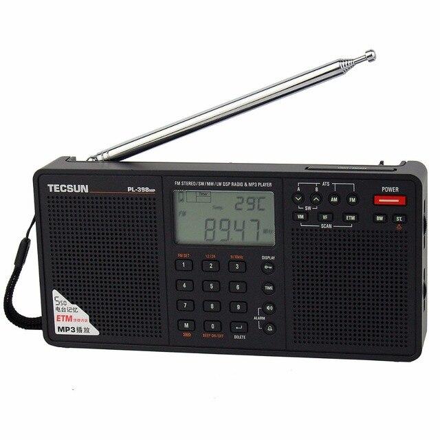 Горячая продажа! Tecsun PL-398MP DSP Fm-радио и Mp3-плеер Стерео FM/MW/SW/LW Приемник Двойной Спикер FM радио Y4132A