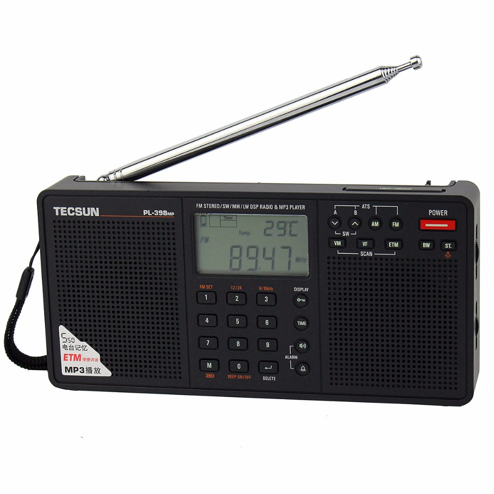 ФОТО Hot sale! Tecsun PL-398MP DSP FM Radio & MP3 Player FM Stereo/MW/SW/LW Receiver Dual Speaker FM Radio Y4132A