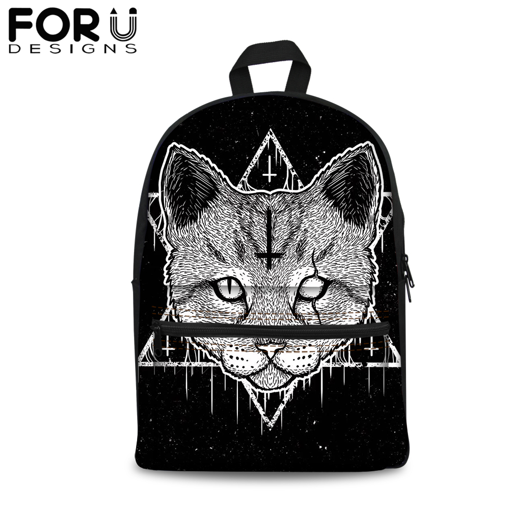 Teenager School Bags for Boy Girls Schoolbag Gothic Witchcraft Black Cat Satchel Rucksack Vintage Bookbag for Men Woman in School Bags from Luggage Bags