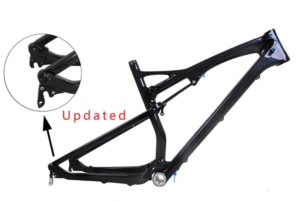 26er MTB Rahmen Vollfederung Carbon fahrradrahmen 3 Karat Glänzend ...