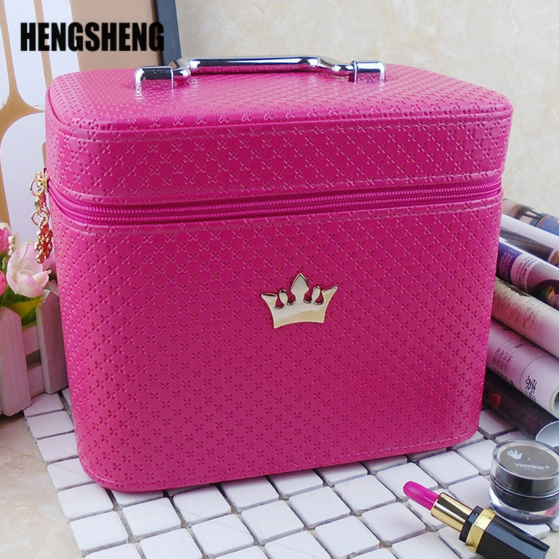 Cosmetic-Bag Brush Storage-Case Makeup-Organizer Professional Large-Capacity Noble-Crown title=