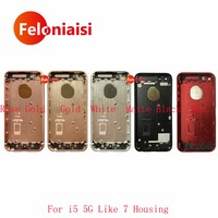 High Quality For IPhone 5 5G 5S Like 7 Style Housing Battery Cover Door Rear Cover