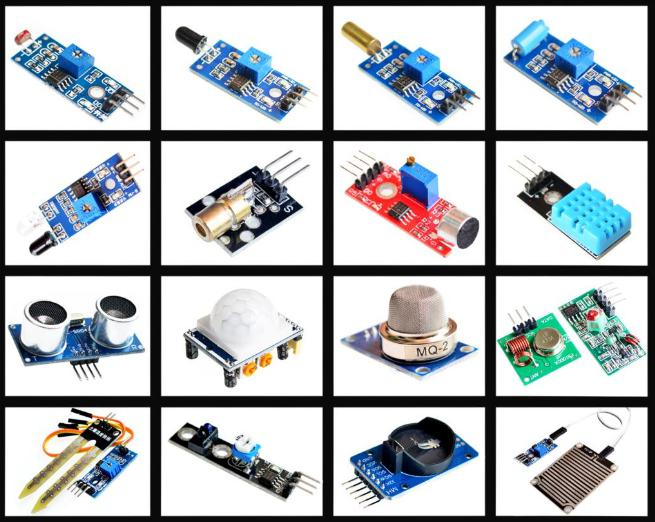 16pcs/lot Raspberry Pi 3&Raspberry Pi 2 Model B the sensor module package 16 kinds of sensor