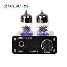 Newest Original ZHILAI D1 MINI HIFI Home Amplifier Tube Preamp USB Audio Power Amplifier Chip 7022/2704 AMP 16bit/24bit