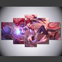5 Panel Jinx LOL League of Legends Gra Płótno Drukowane malarstwo Dla Życia Obraz HD Drukuj Wystrój Nowoczesny Grafika Plakat kn-559